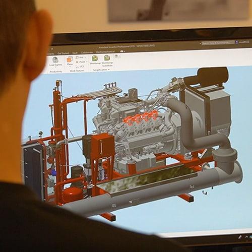 NISSEN energy gasmotor-unit design inhouse