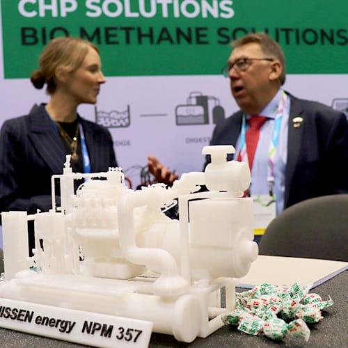 NISSEN energy gasmotor-unit på messe