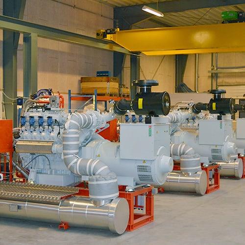 NISSEN energy gasmotor-unit produktion i eget værksted